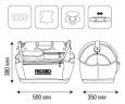 RIDGID Otevřená brašna na nářadí 50x35x38cm