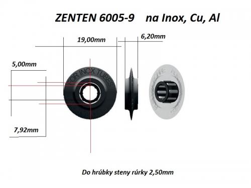 ZENTEN Řezné kolečko Inox, Cu, Al (19x6,2 mm)